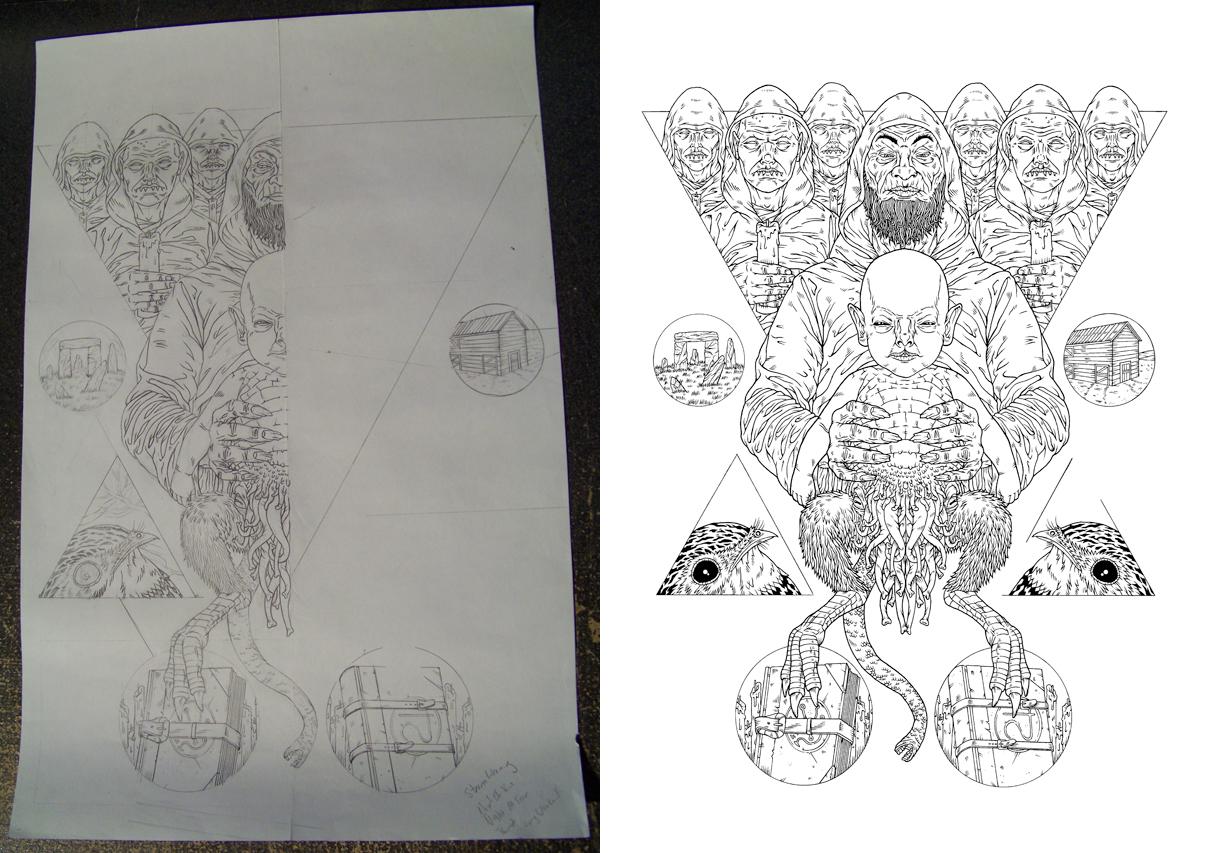 Halfsies and inked! - Michael Bukowski art
