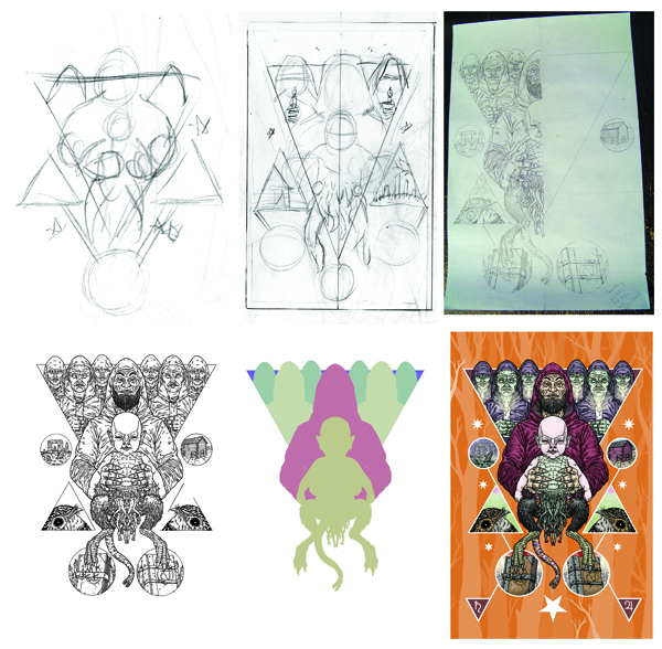 Michael Bukowski art process