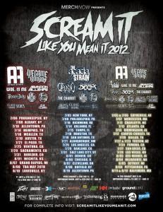 Scream It Like You Mean It 2012 Tour
