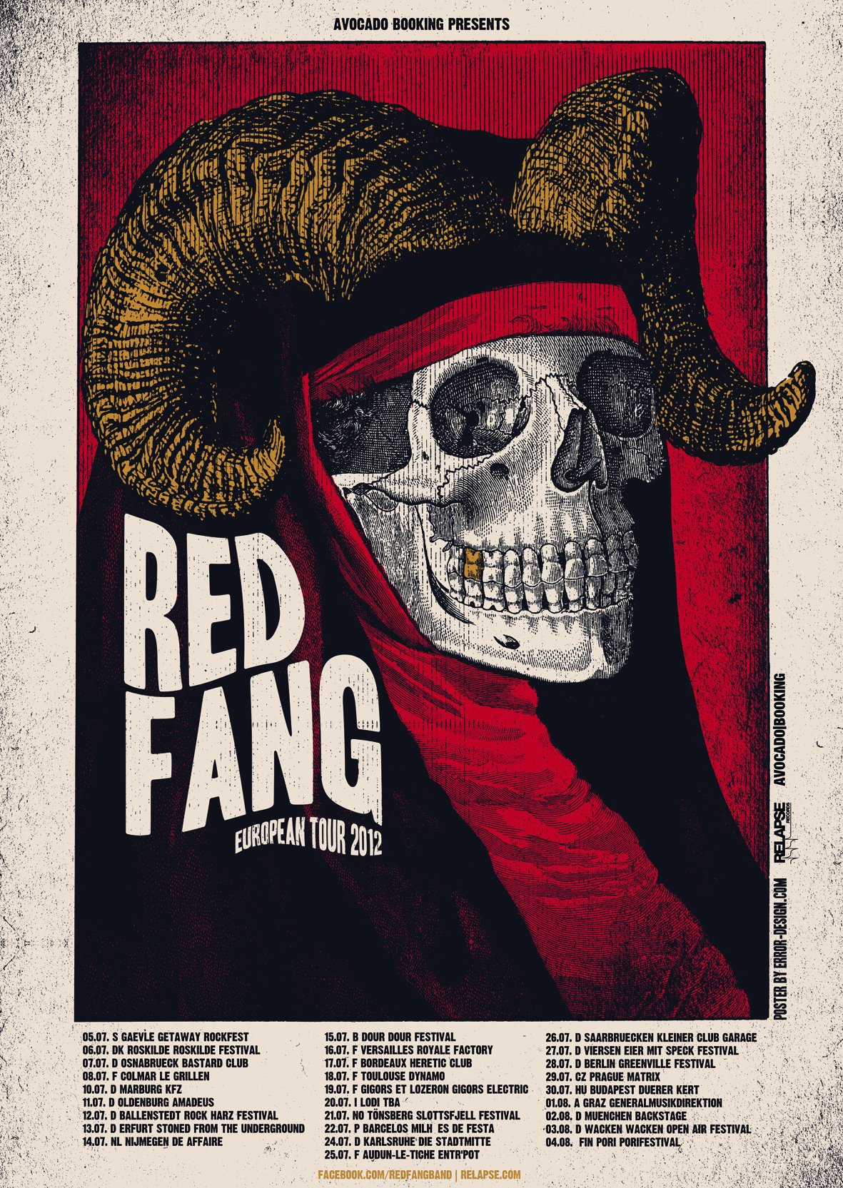 Red Fang European Tour 2012
