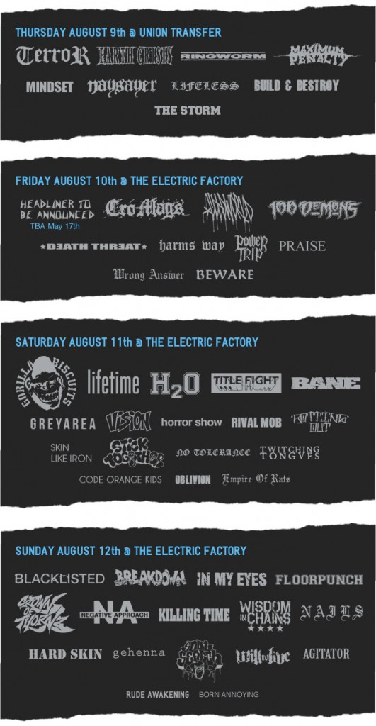 This Is Hardcore Fest 2012 Line-up