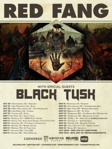 black tusk 2012 US tour with red fang