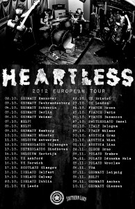 Heartless 2012 European Tour
