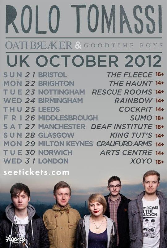 Rolo Tomassi - Oathbreaker - UK Tour