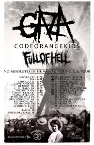 Gaza, Code Orange Kids, Full Of Hell US Tour 2012