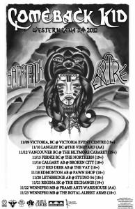 Expire, Comeback Kid, Backtrack Canadian Tour 2012