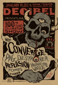 Decibel 100th issue show with Converge and Pig Destroyer