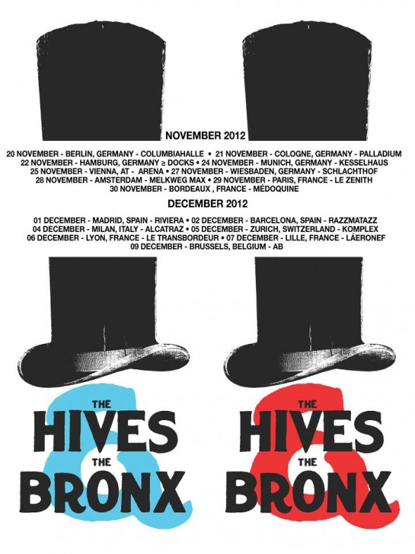 The Hives, The Bronx European Tour 2012