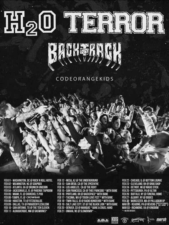 Terror, H20, Code Orange Kids, Backtrack Tour