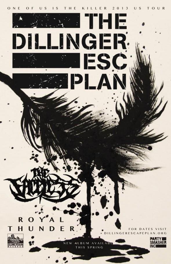 dillinger escape plan 2013 US tour