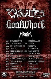goatwhore casualties tour poster