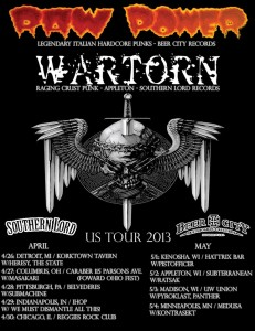 Raw Power Wartorn US Tour