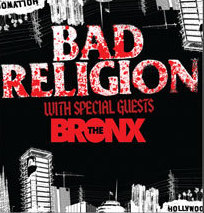 bad religion and the bronx tour