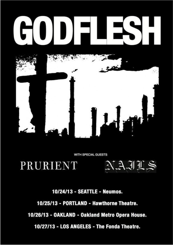 nails godflesh tour