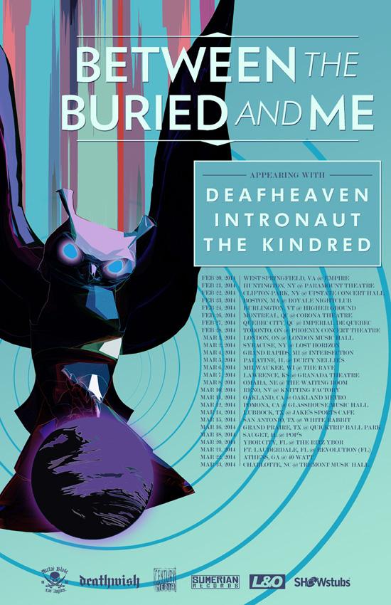 BTBAM Deafheaven tour 2014