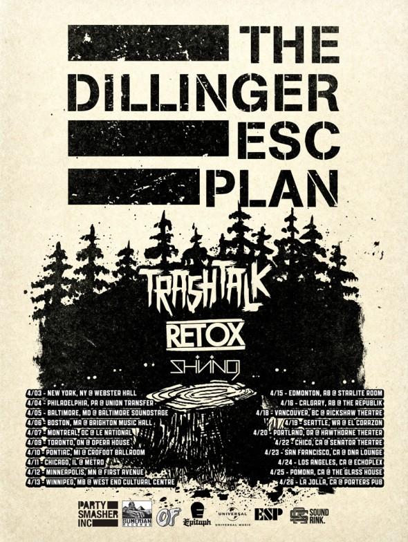 Dillinger Escape Plan Trash Talk Tour