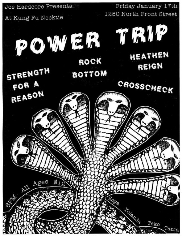 power trip & strength for a reason show flyer