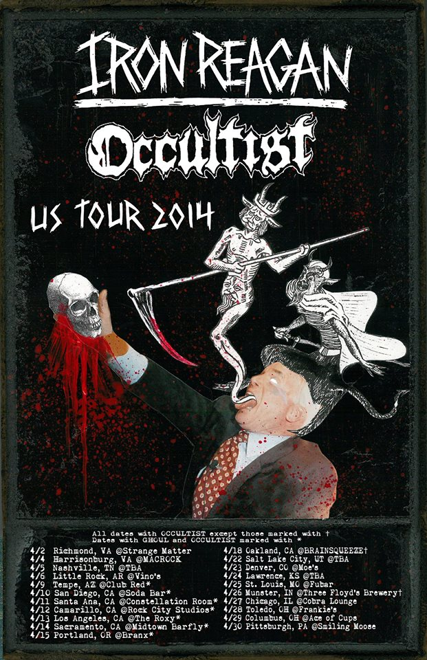 Iron Reagan Occultist Tour