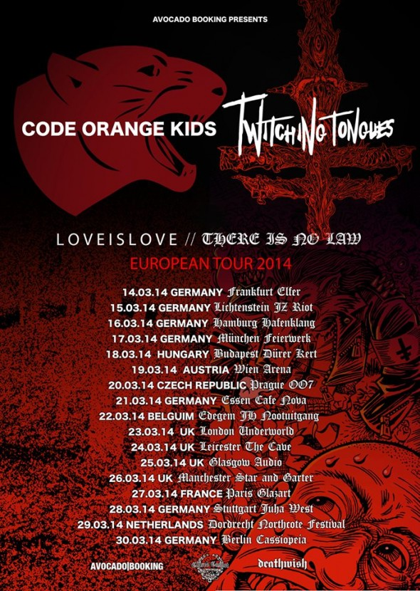 Code Orange Kids & Twitching Tongues Euro Tour 2014