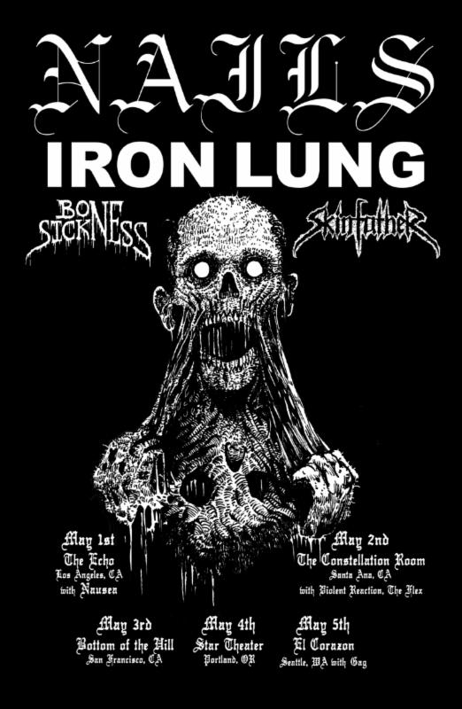 Nails Iron Lung Tour 2014