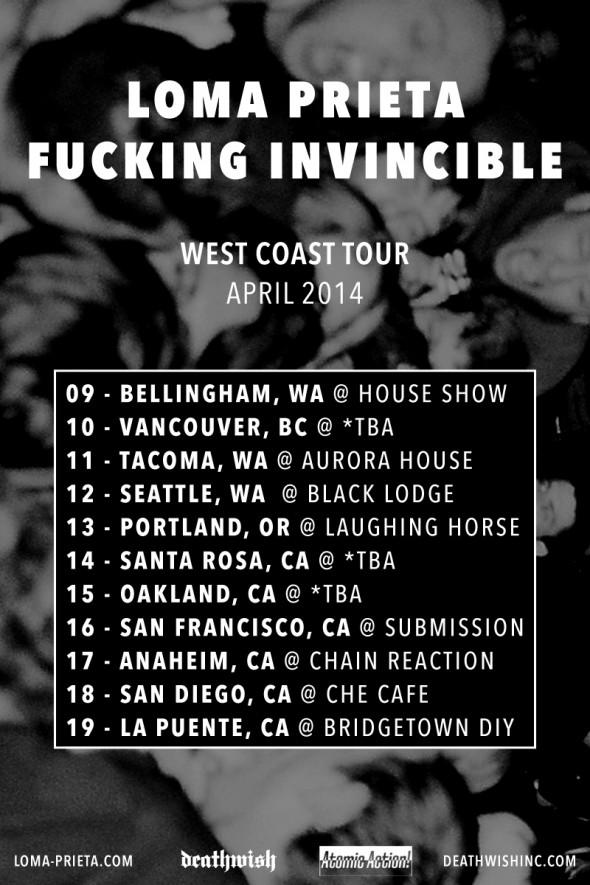 loma prieta fucking invincible 2014 tour