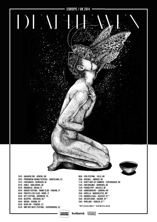 deafheaven europe tour 2014