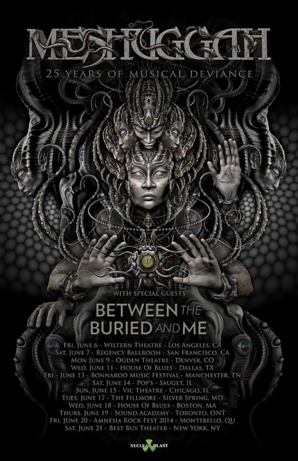 meshuggah and between the buried and me tour
