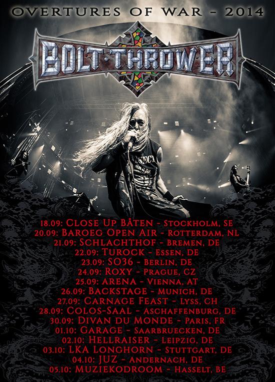 bolt thrower - tour 2014 poster
