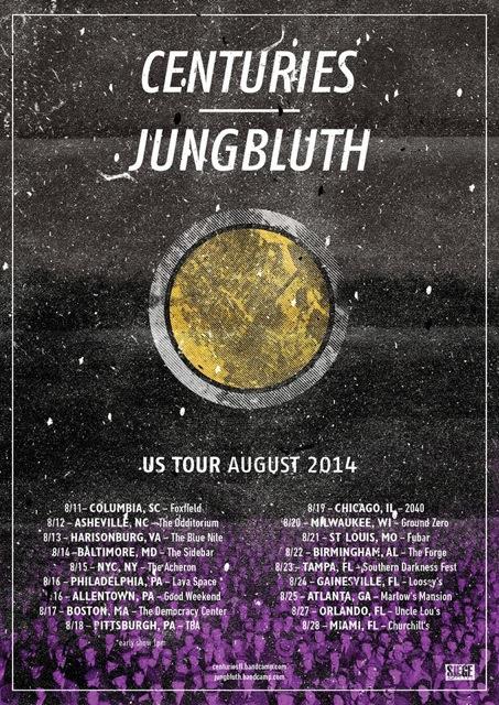 centuries band us tour 2014
