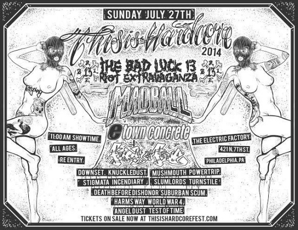 this is hardcore 2014 sunday flyer