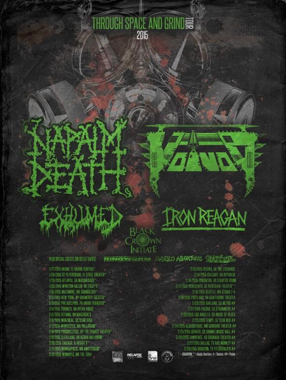 napalm death tour winter 2015