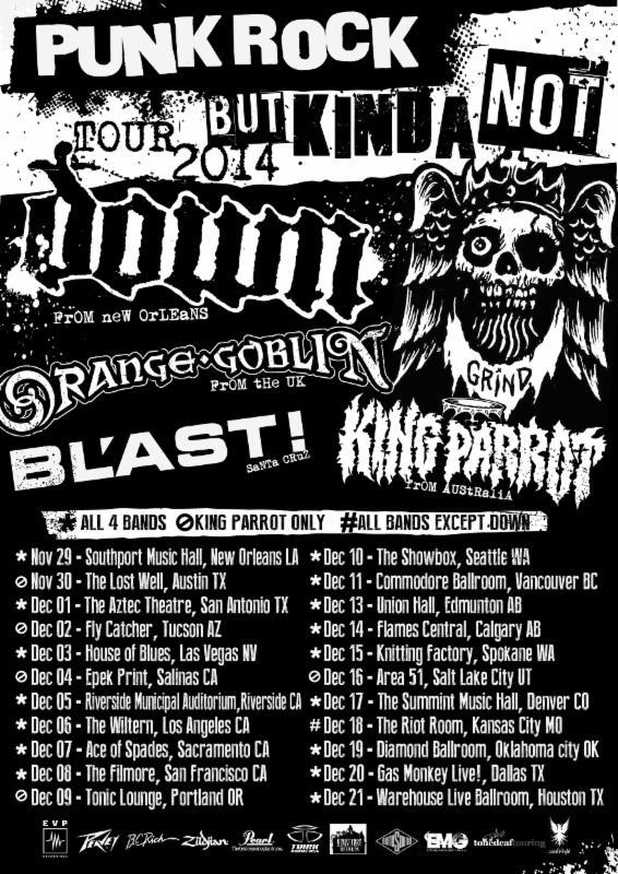 punk rock but kinda not tour 2014