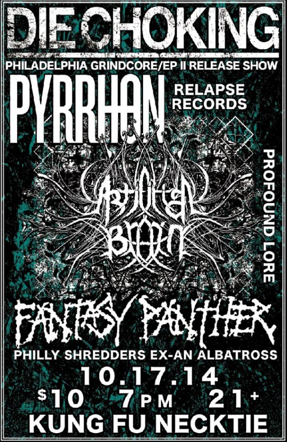 Pyrrhon, Artificial Brain, Die Choking, Fantasy Panther at KFN
