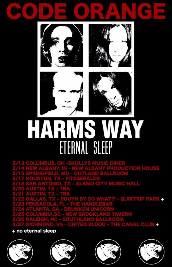 code orange harms way tour 2015