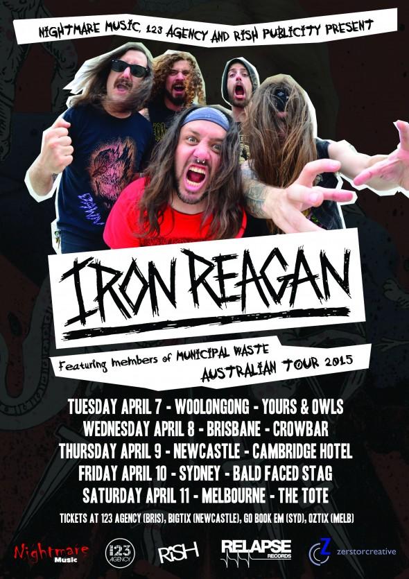 iron reagan australian tour