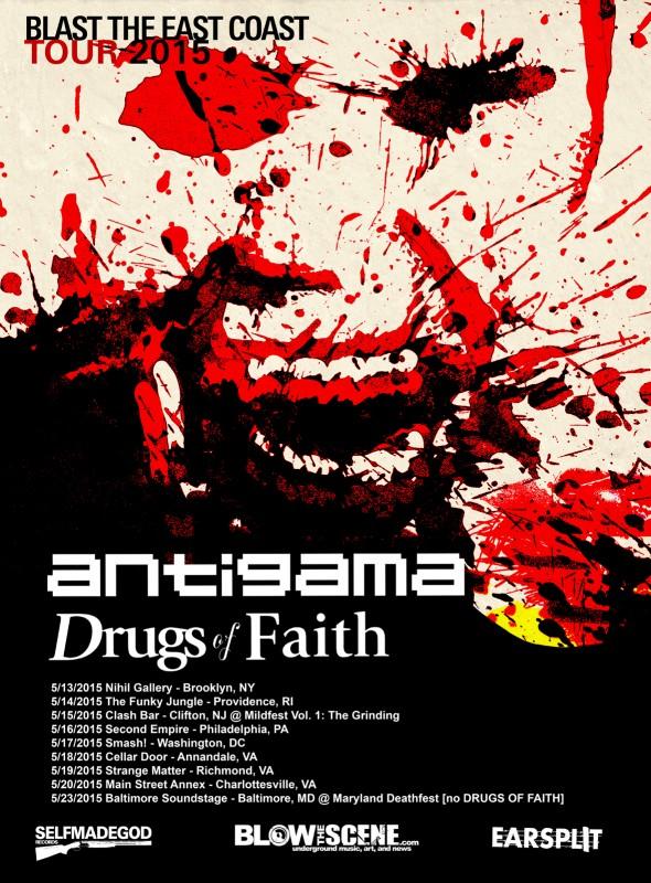antigama drugs of faith us tour