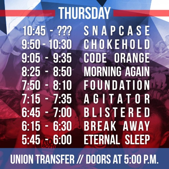 TIH X - Thursday Set Times
