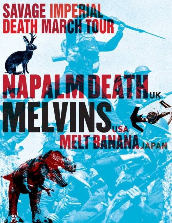 naplam death melvins melt banana us tour 2016