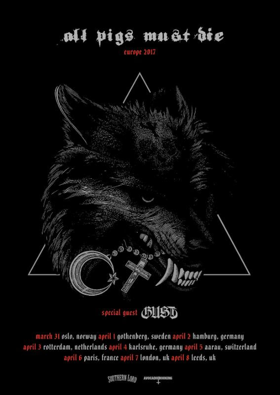 all pigs must die gust 2017 tour
