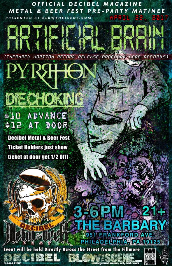 Artificial Brain, Pyrrhon, Die Choking Decibel Pre Show Matinee