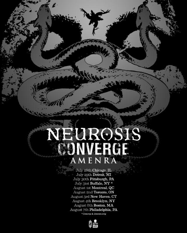 neurosis, converge 2017 US tour
