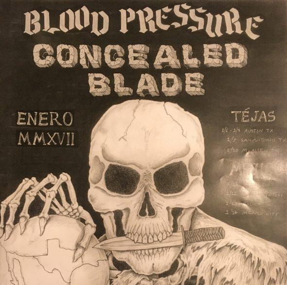 blood pressure concealed blade split