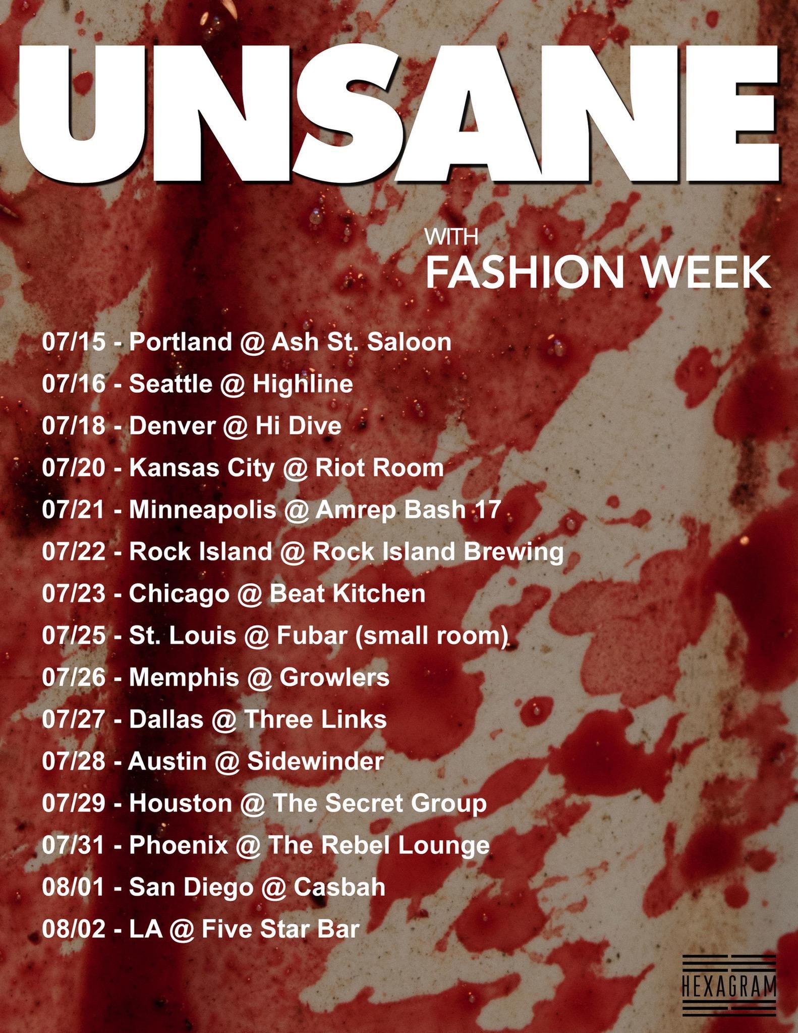 unsane 2017 tour