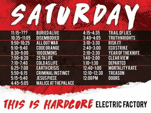 saturday sets TIH 2017