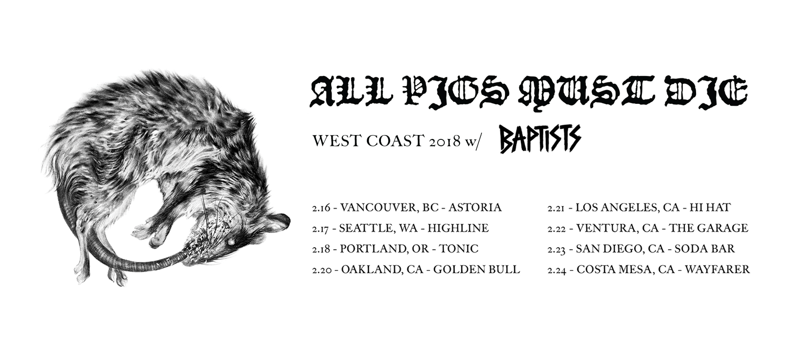 apmd baptists us west coast 2018 tour poster