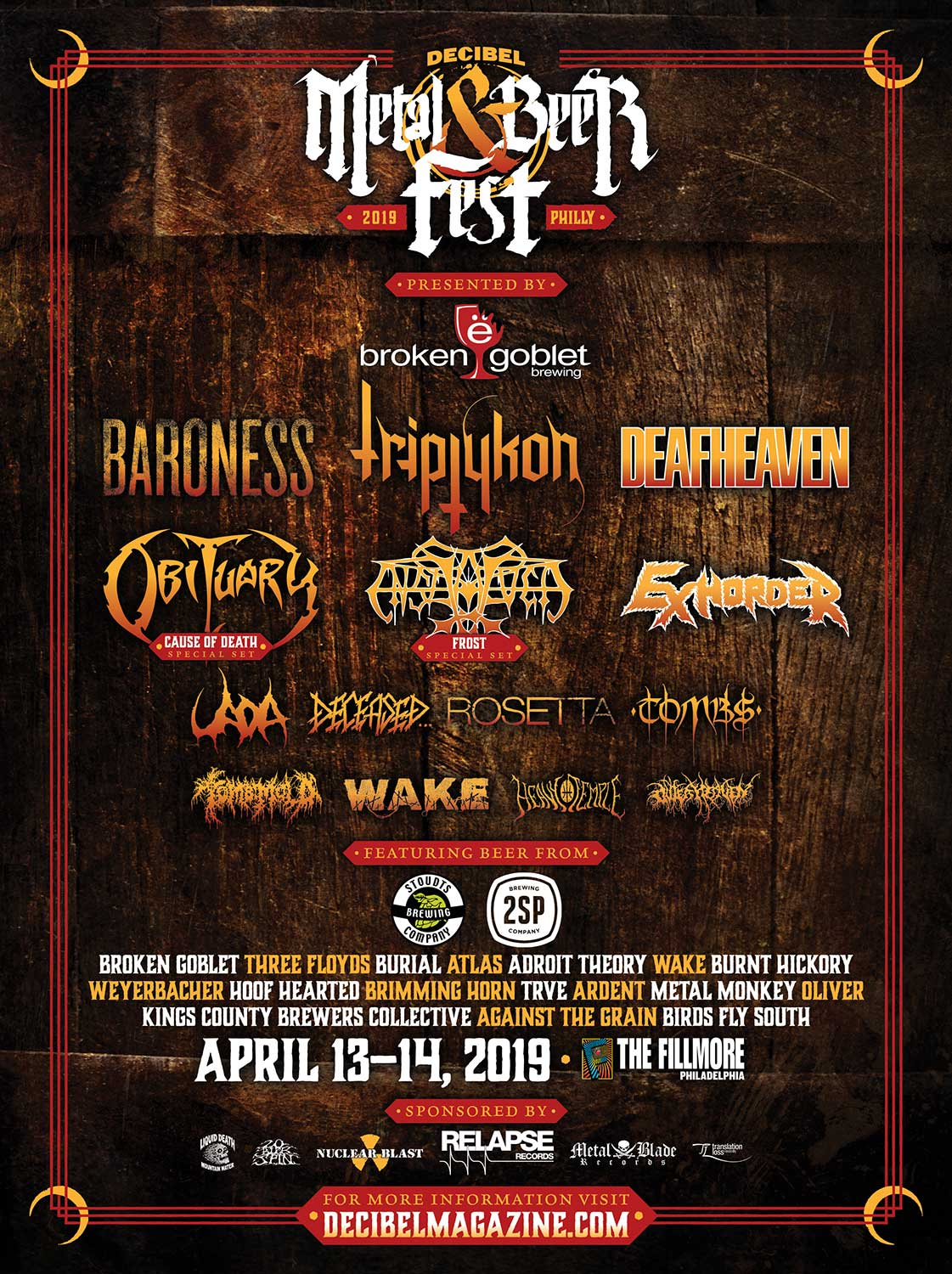 decibel metal beer fest 2019